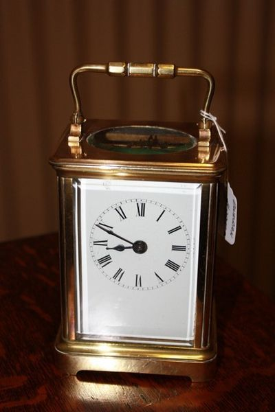 Large C19th French 8 Day Carrige Clock