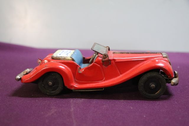 1950and39s  MG TF Friction Tin Toy