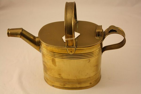 19th Century Brass 4 Pint Hot Water Can