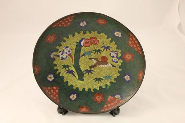 19th Century Chinese Cloisonne Plate