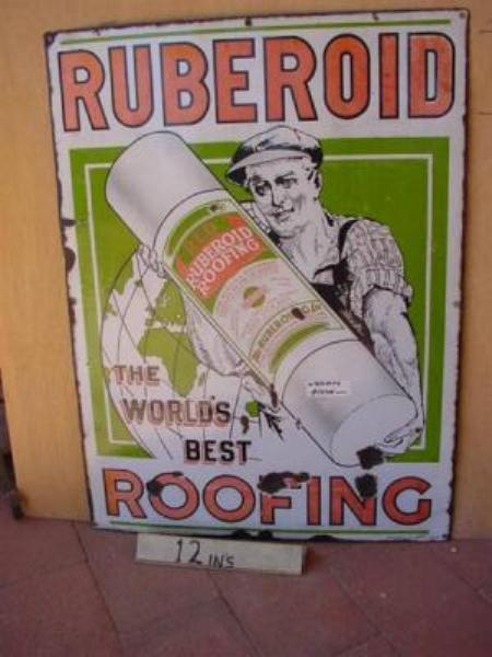 RUBEROID ROOFING ENAMEL SIGN ---SM81