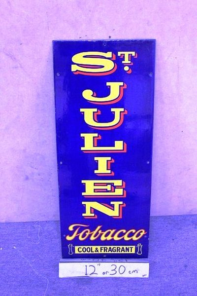 Near Mint St Julien Tobacco Enamel Sign
