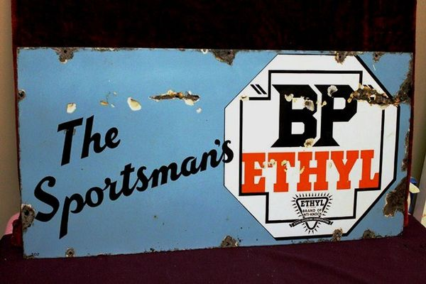 BP Sportsmans Ethyl Enamel Sign