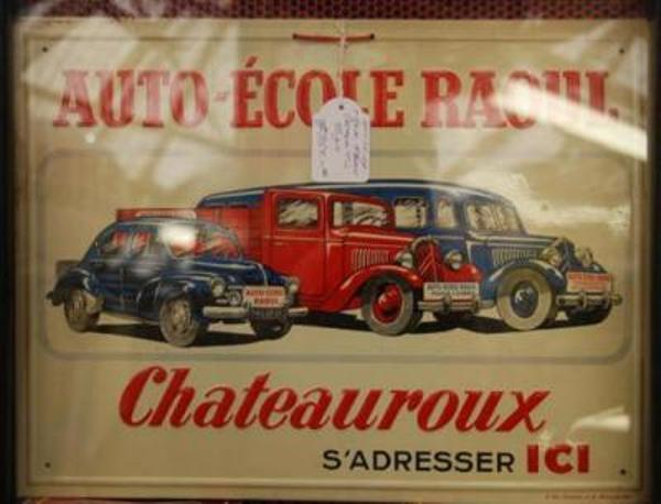 Auto Ecole Raoul Tin Sign ---SA24