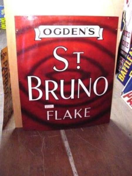 OGDENS ST BRUNO FLAKE SIGN [MINT]---ST80