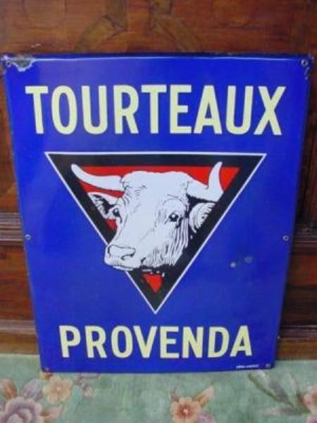 French cow farm enamel sign---SM34