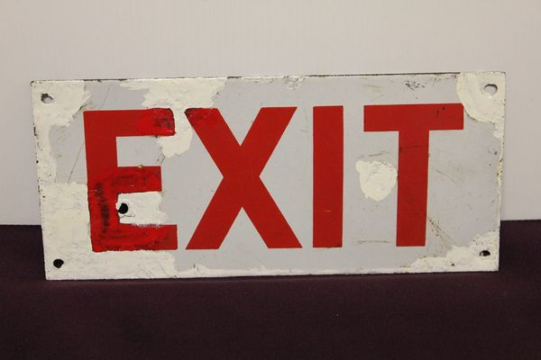 Exit Enamel Sign