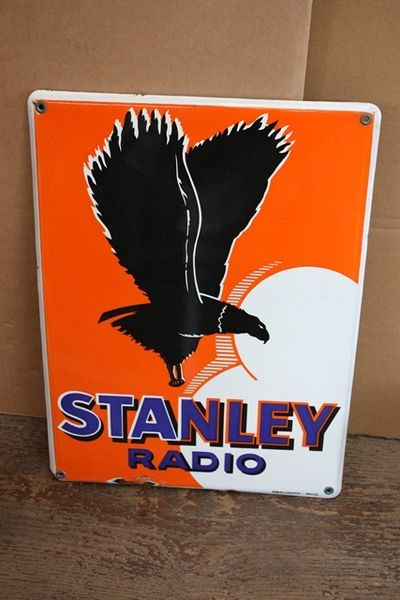 Stanley Radio Enamel Sign