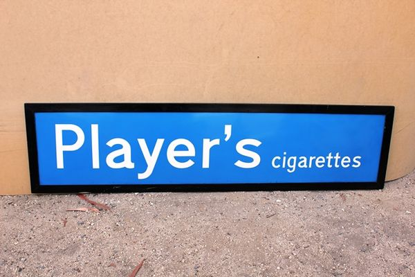 Players Ciagrettes Enamel Sign