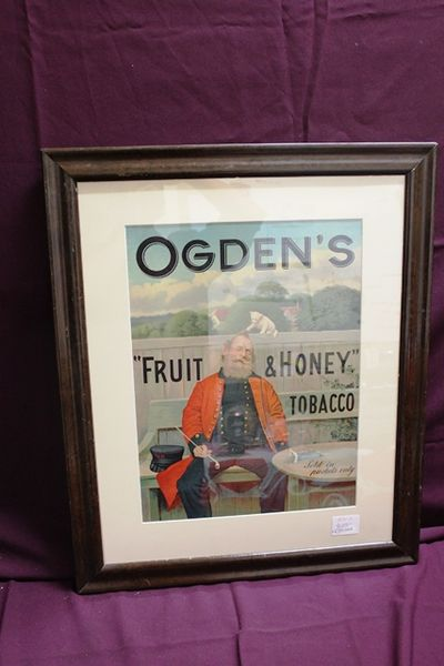 Stunning Ogdens Tobacco Pictorial Adv Card