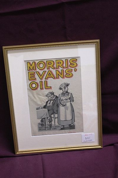 Vintage Morris Evans Oil Display Card