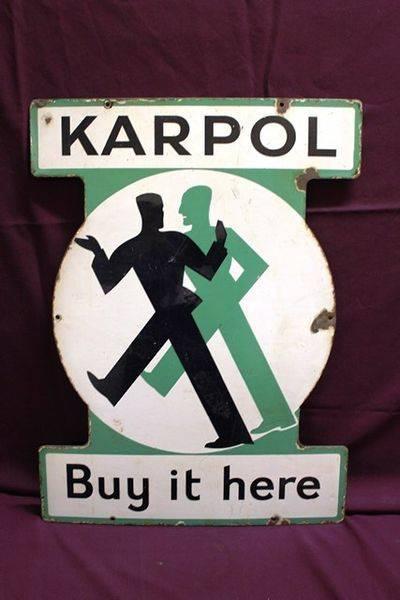 Karpol Pictorial Enamel Sign
