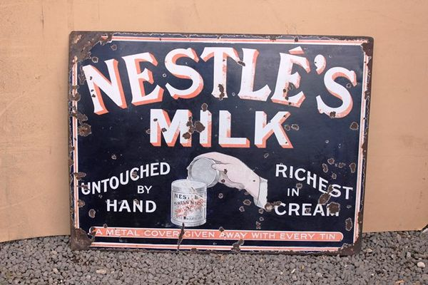 Nestle Milk Pictorial Enamel Sign
