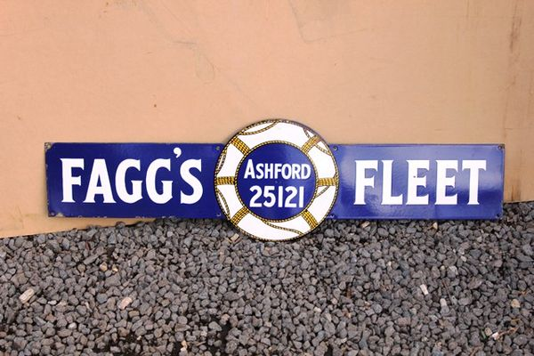 Faggs Fleet Tobacco Enamel Sign