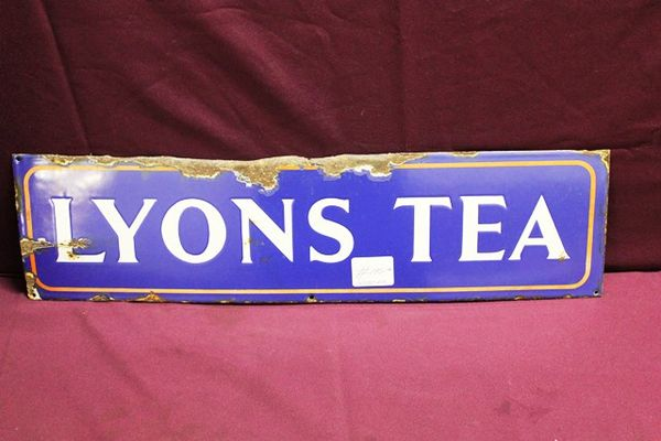 Lyonsand96s Tea Enamel Advertising Sign