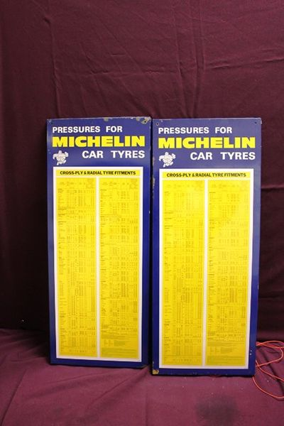 Michelin Tyres Tin Chart Dated 1972