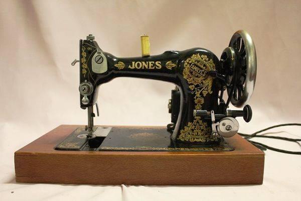 Boxed Jones Electric Sewing Machine Xxxx Antique Complex
