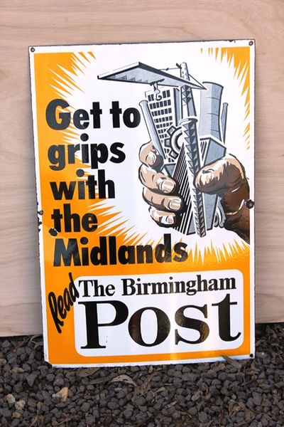 Birmingham Post Pictorial Enamel Sign