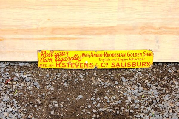 Roll Your Own Tobacco Enamel Advertising Sign