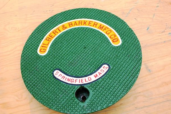 Gilbert and Barker Cast Iron Tank Cover
