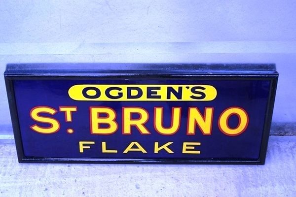 Framed St Brunoand96s Flake Enamel SignArriving Nov