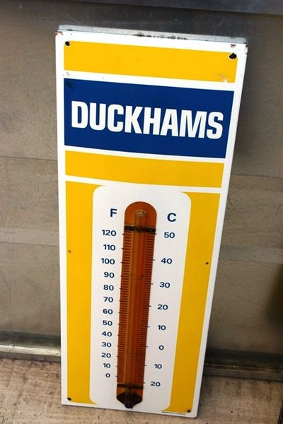 Duckhams Enamel Thermometer Arriving Nov