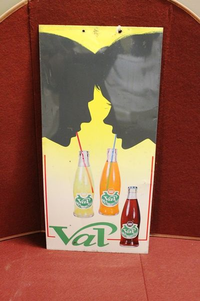 Val Pictorial Advertising Tin Sign