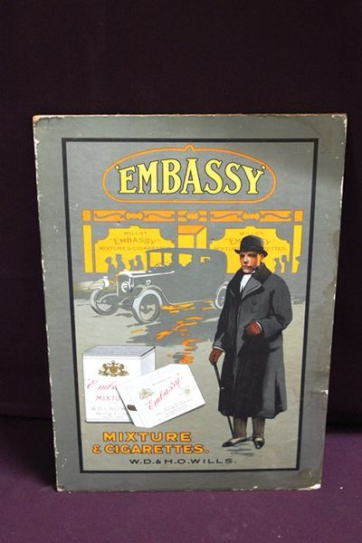 Wills Embassy Pictorial Advertising Card