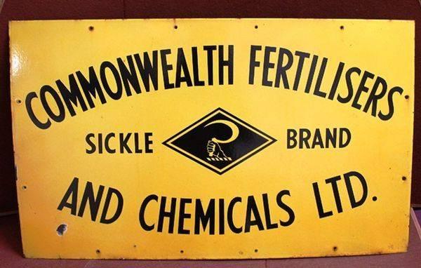 Commonwealth Fertilisers Enamel Advertising Sign
