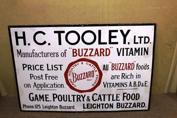 Antique HCTooley Farming Enamel Advertising Sign