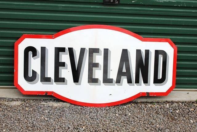 Cleveland Enamel Advertising Sign