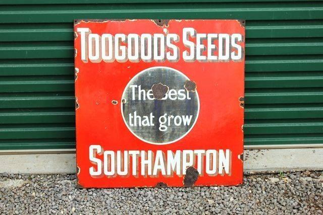 Toogoods Seeds Enamel Advertising Sign
