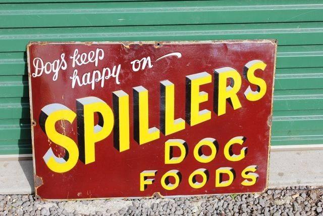 Spillers Dog Food Enamel Advertising Sign