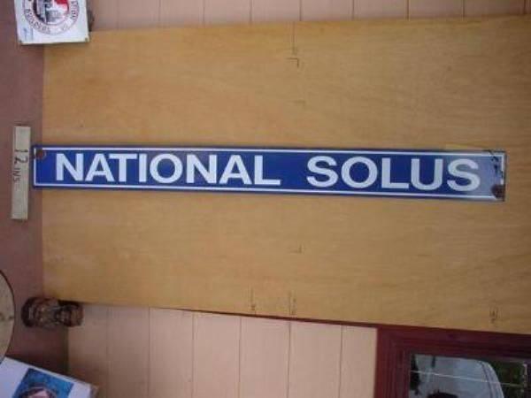 NATIONAL SELUS STRIP ENAMEL SIGN ---SM108