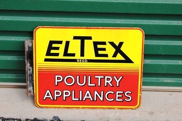 Eltex Double Sided Enamel Sign With Bracket