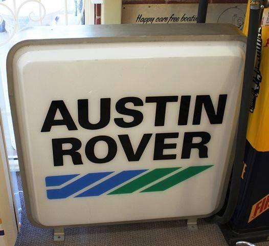 Austin Rover Advertising Light Box