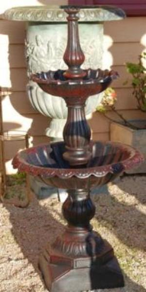 Lisbon Cast Iron 2 Tierd Fountain --- CI 26