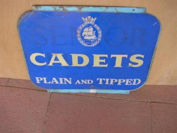 CADETS DOUBLE TIN SIGN---ST47