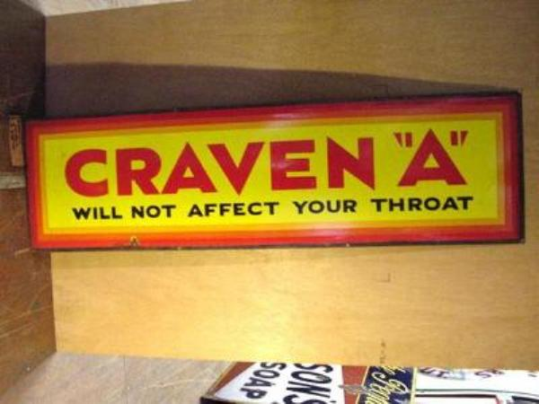 CRAVEN A STRIP SIGN ---ST93