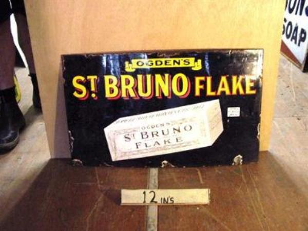 ST BRUNO FLAKE ENAMEL SIGN ---ST99