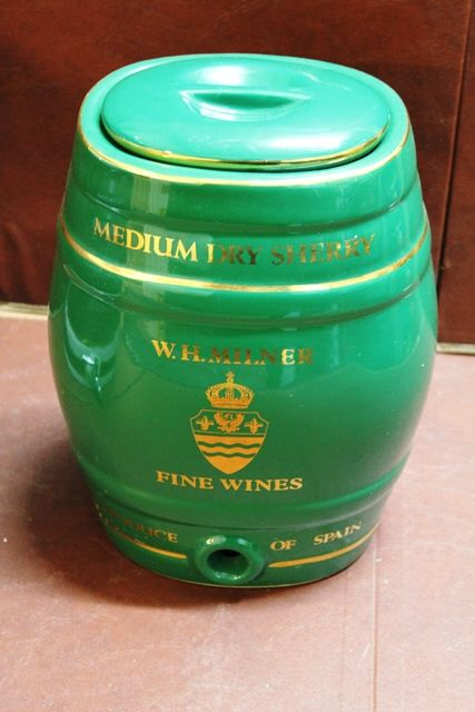 Ceramic WH Milner Medium Dry Sherry Dispenser