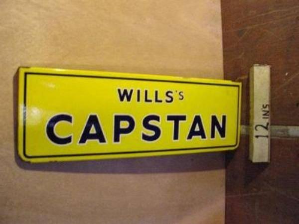 WILLS CAPSTAN ENAMEL SIGN ---ST106
