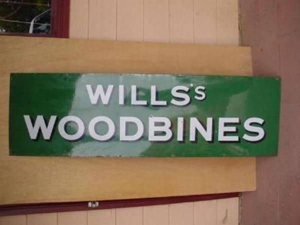 WILLs WOODBINE STRIP SIGN---ST46