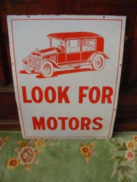 Motoring car pictorial enamel sign---SA71