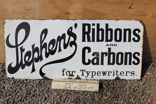 Stephans Ribbons Enamel Sign