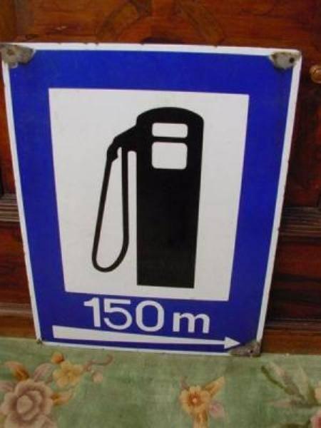 Enamel Petrol Pump garage sign---SA69