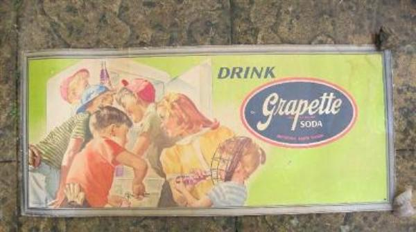 Grapette Soda Large Showcard card Sign----SP13