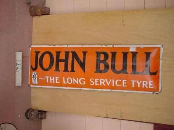 JOHN BULL CONCAVE ENAMEL SIGN --- SA95