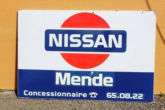 Nissan Enamel Advertising Sign