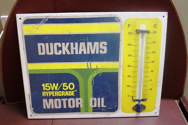 Duckhams Tin Thermometer